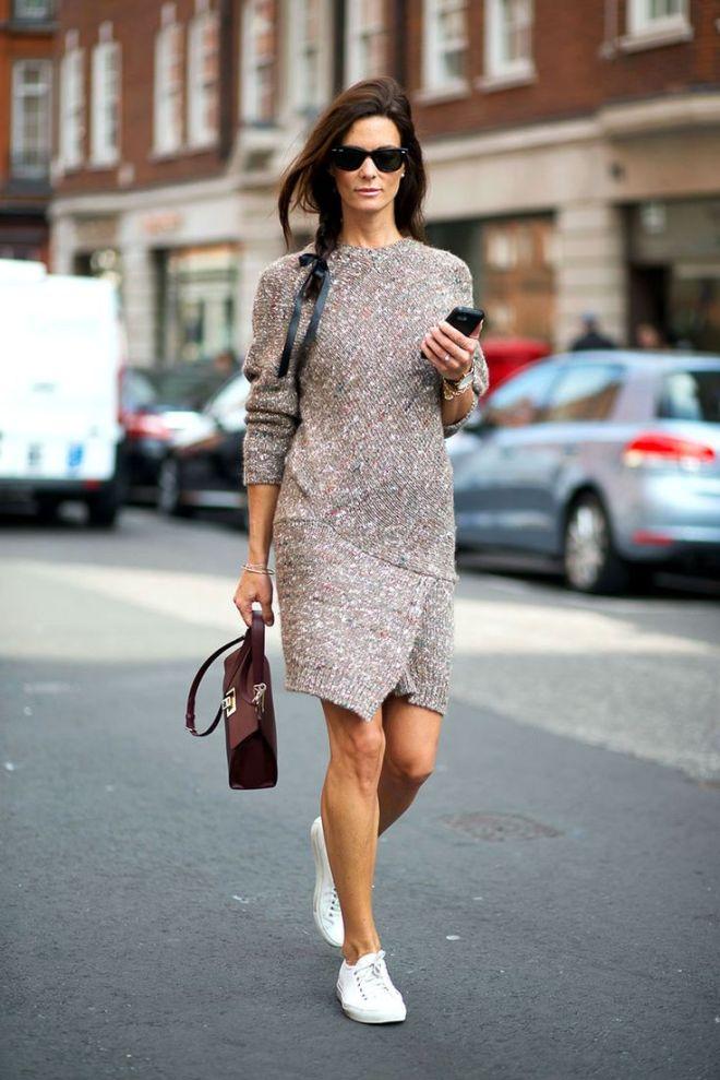 rochie tricotata asimetrica