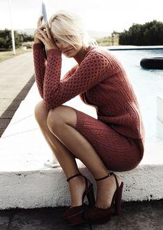 rochie tricotata caramizie