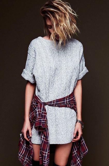 rochie tricotata gri