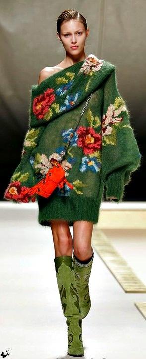rochie tricotata inflorata