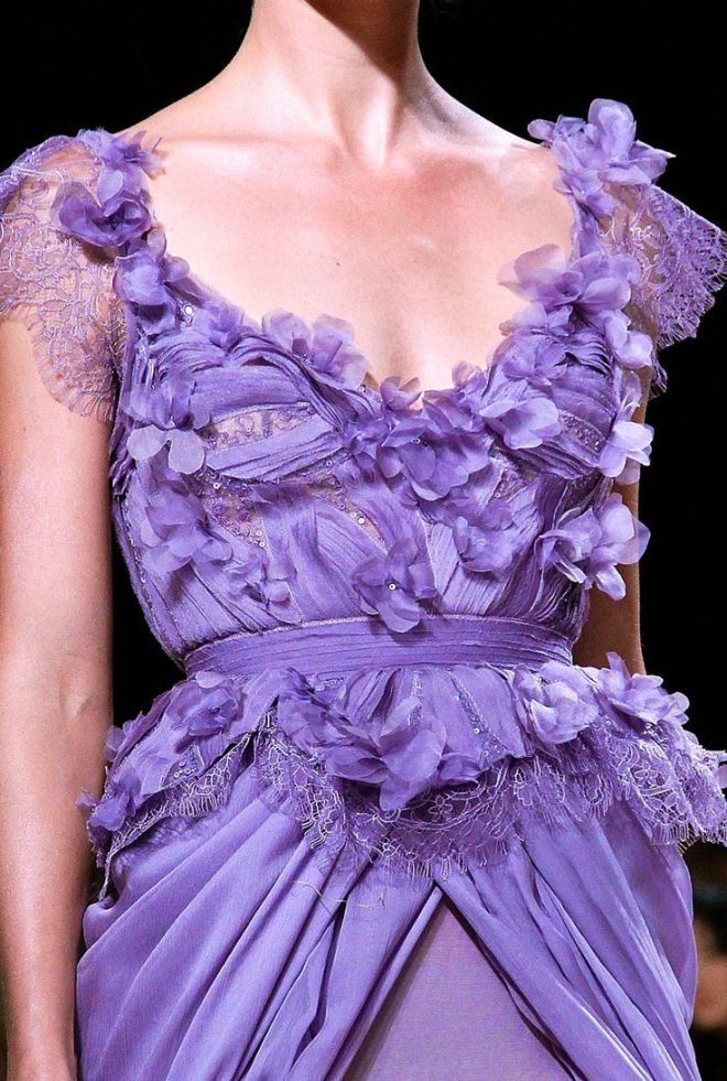 purple cleavage dress elie saab