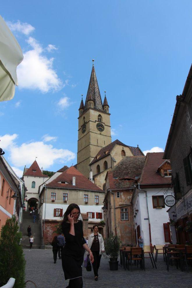 turnul bisericii evanghelice sibiu